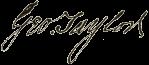 George_Taylor_signature