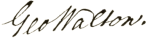 George_Walton_signature