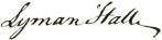 Lyman_Hall_signature