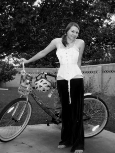 Bike Riding with a Corset