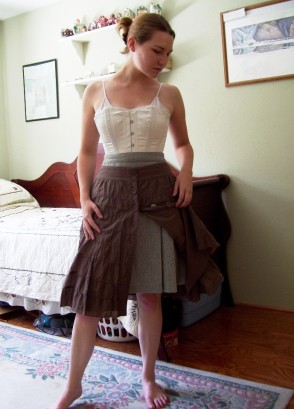 Peeking under skirts and sketchbook covers the pragmatic costumer