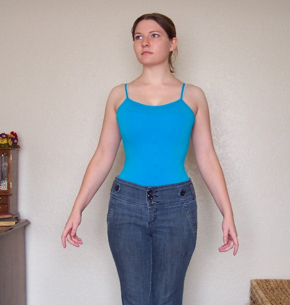 Women Fetish Wearing Extremely Tight Belt On Waist