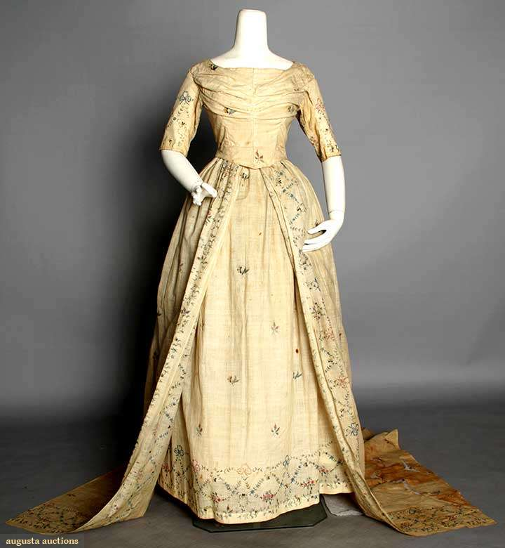 One Dress Two Weddings An 18th Century Gown Remade In The