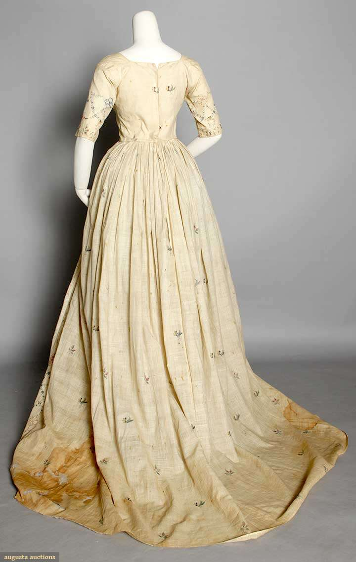 One dress two weddings an 18th century gown remade in the for 19th century wedding dresses