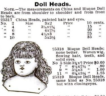 montgomery ward doll head ad 1895