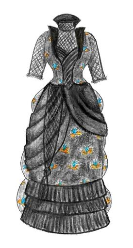 Sari Bustle Dress Design