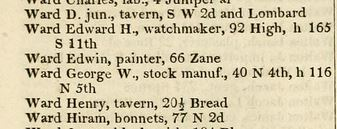 1841 phil bis directory ward stocks both addresses