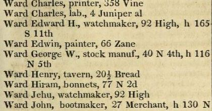 1842 phil bis directory ward stocks both addresses