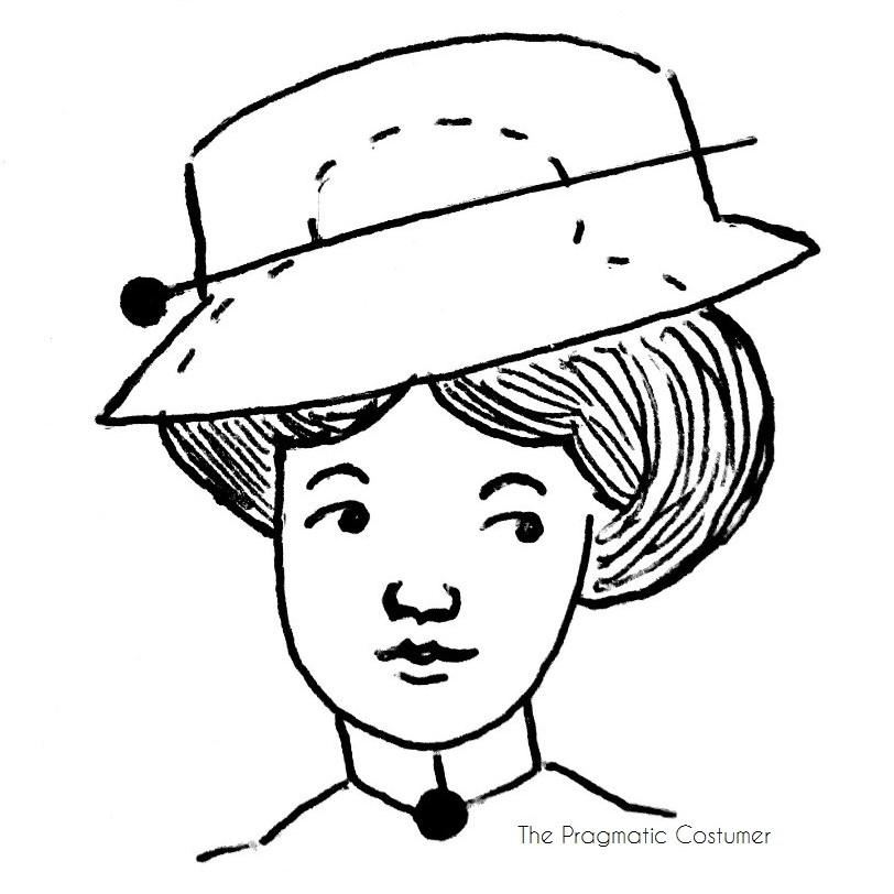historical fashion the pragmatic costumer Fur Hat Styles the pin through one side of the crown carefully sliding it under a portion of your hair and then pushing the pin back out the other side of the hat