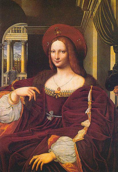Portrait d'Isabelle d'Aragon (Isabella of Naples raphael