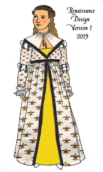 842e2db1 Mash 'em together, average 'em out, and you get roughly the correct era for  my dress (1490s), right? Right?!