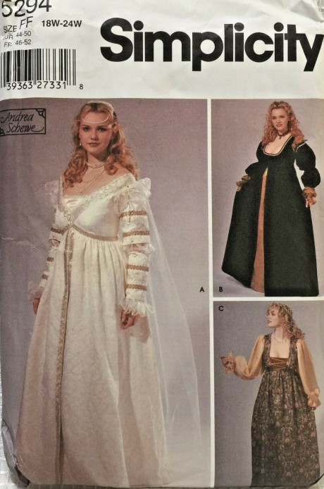 c98254e9 Also the yardage….holy cow, the yardage! The few older online reviews I  found mention this dress is a fabric and ...