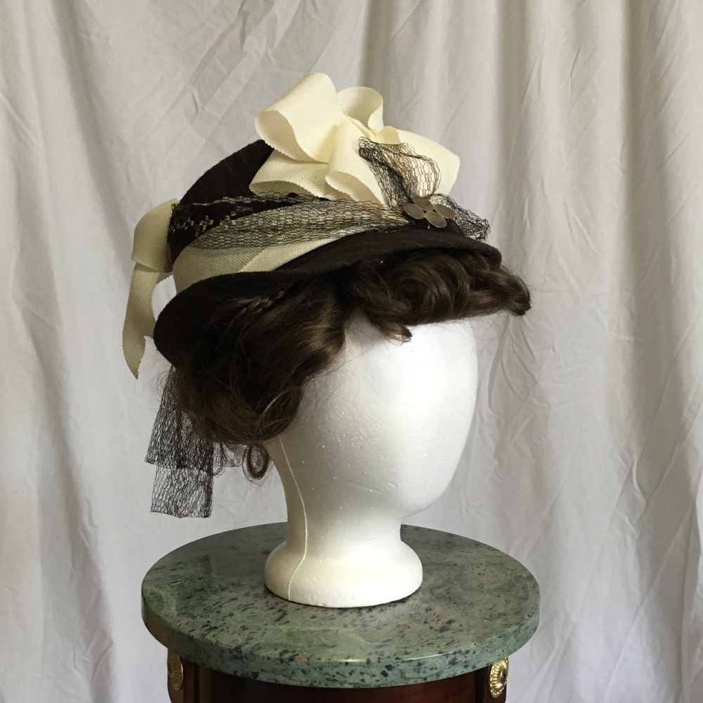 Reclaiming a Hat Icon: How to Turn a Trilby into a Victorian Lady's Hat Tutorial